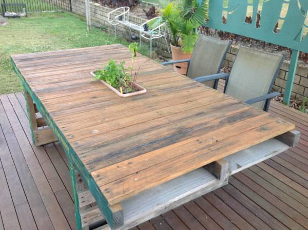 Outdoor Timber Dining Table Pallet Desks & Pallet Tables