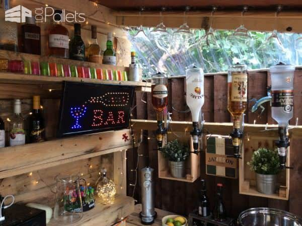 Outrageous Pallet Bar Out of 12 Reclaimed Pallets Pallet Bars