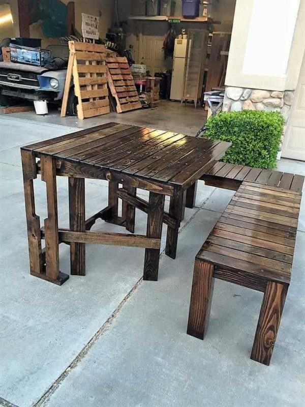 Pallet Balcony Lounge Set Lounges & Garden Sets Pallet Benches, Pallet Chairs & Stools Pallet Desks & Pallet Tables