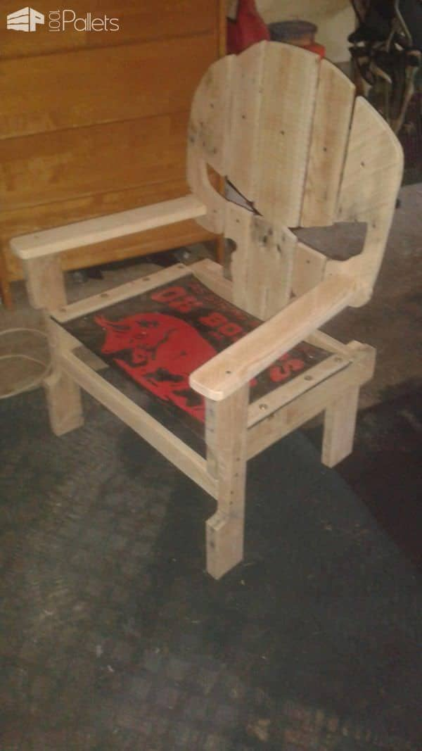 Pallet Garage Chair Pallet Benches, Pallet Chairs & Stools