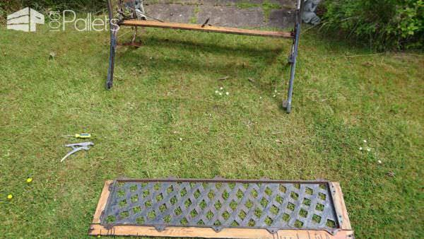 Refurbished Outdoor Bench With Pallet Wood Pallet Benches, Pallet Chairs & Stools