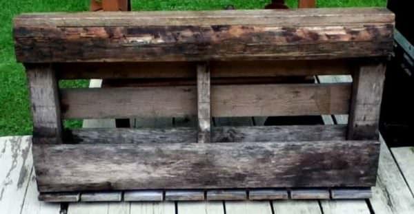 Rustic Pallet Wine Rack Pallet Home Accessories