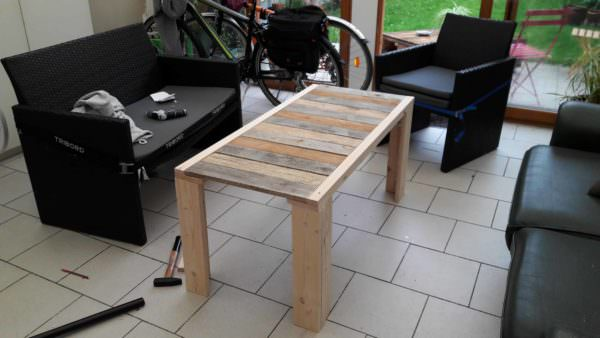 Table Basse En Palettes / 2 Pallets Coffee Table Pallet Coffee Tables