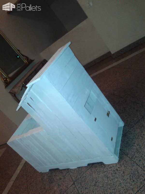 Two-story Pallet Rabbit Hutch Animal Pallet Houses & Pallet Supplies