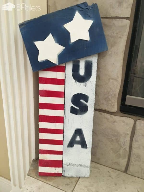 4th of July Pallet Decor Pallet Home Décor Ideas Pallet Wall Decor & Pallet Painting