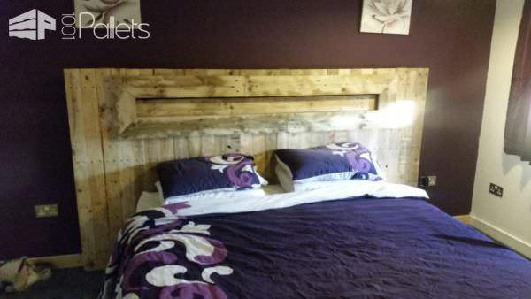 Led Backlit Pallet Headboard Pallet Beds, Pallet Headboards & Frames