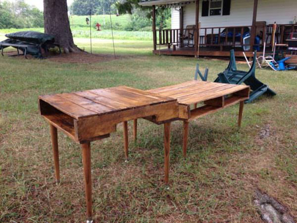 Pallet Coffee & End Table Set Pallet Desks & Pallet Tables