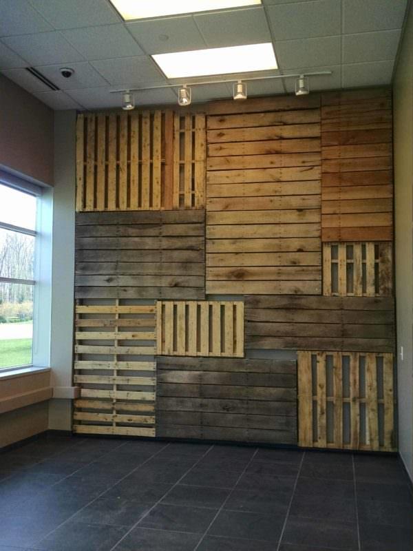 Pallet Focal Wall Pallet Walls & Pallet Doors