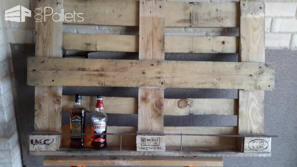 Pallet Mirrored Liquor Rack Pallet Bars Pallet Wall Decor & Pallet Painting