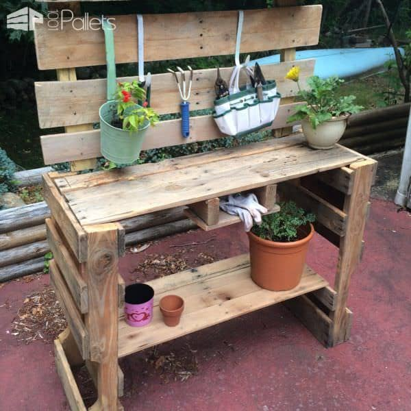 Pallet Potting Table Pallet Desks & Pallet Tables Pallet Planters & Compost Bins