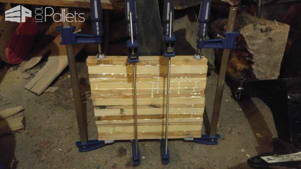 Glued Wood Strip Table/Chopping Block Inspiration Pallet Desks & Pallet Tables Pallet Home Accessories