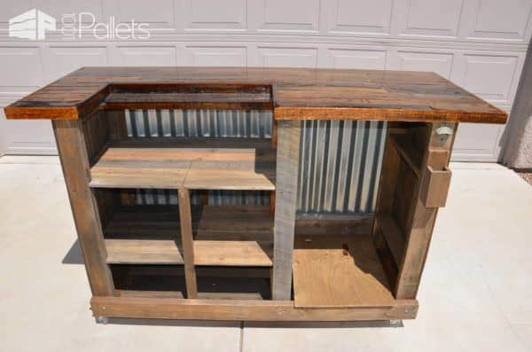 Gorgeous Pallet Wood Rolling Bar Pallet Bars