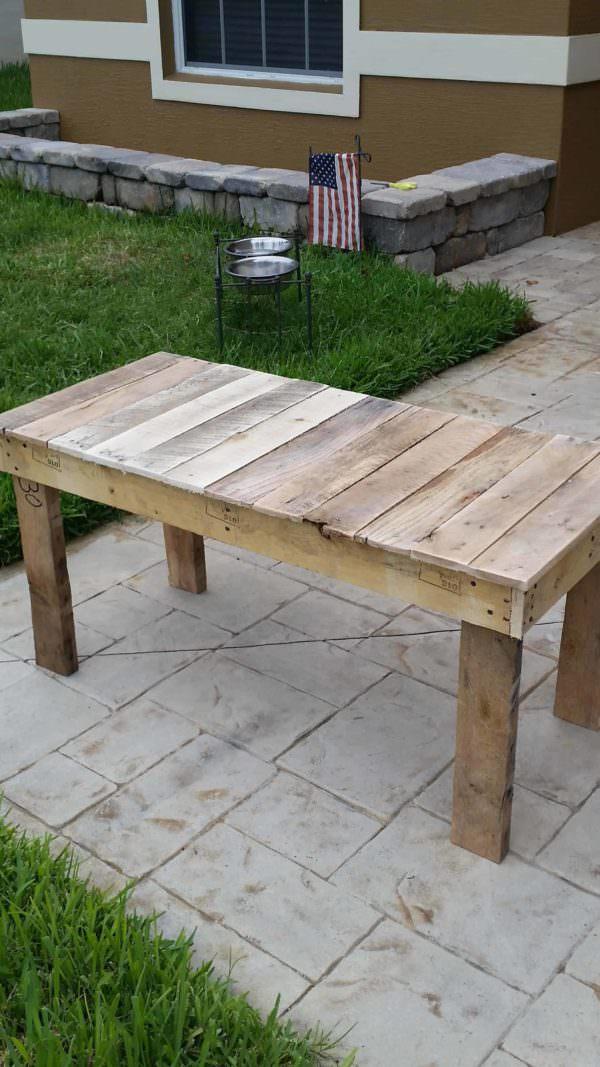 Long End-table From Pallets Pallet Desks & Pallet Tables