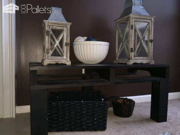 One Pallet Equals Two Side Tables Pallet Coffee Tables