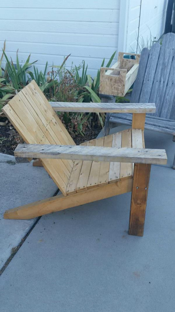 Pallet Adirondack Chair Set Pallet Benches, Pallet Chairs & Stools