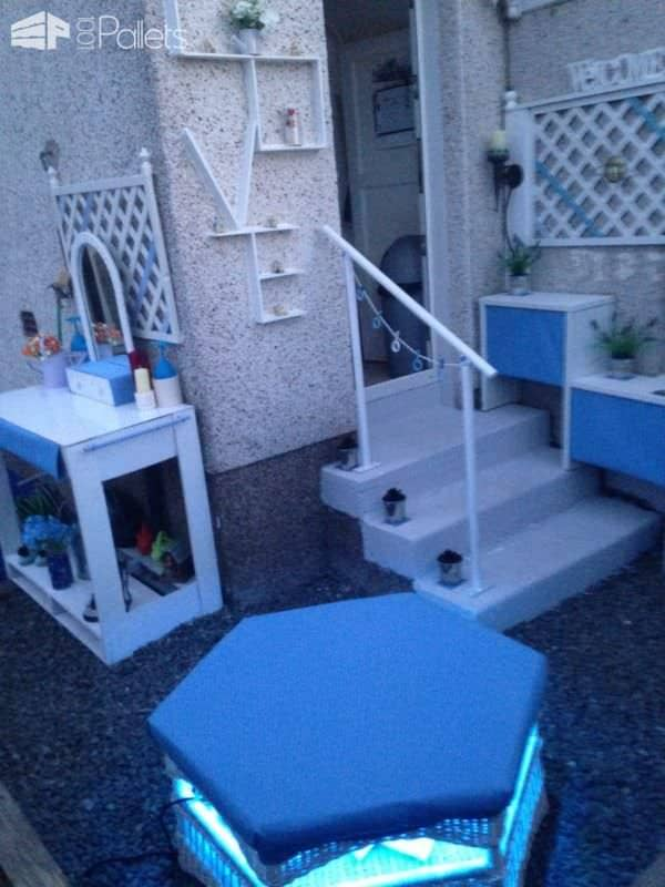 Pallet Corner Garden Lounge Set Lounges & Garden Sets