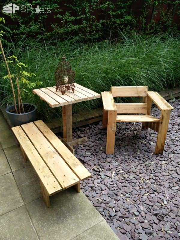 "Pallet ""Wassily"" Chair Pallet Benches, Pallet Chairs & Stools"