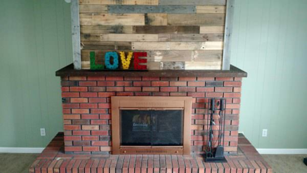 Pallet Wood Fireplace Pallet Wall Decor & Pallet Painting