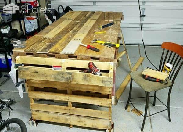 Pallet Work Bench Pallet Desks & Pallet Tables