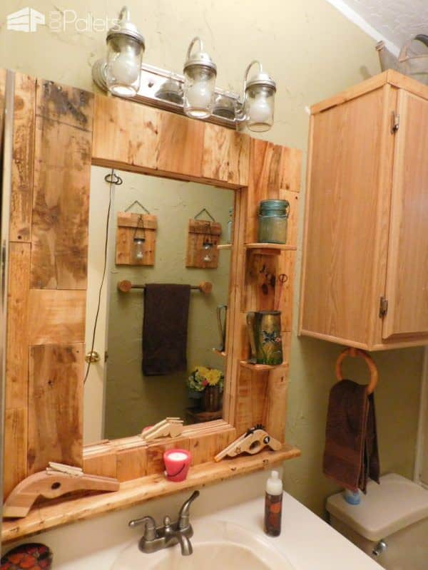 Wow – Pallet Bathroom Makeover! Pallet Boxes & Chests Pallet Candle Holders Pallet Home Accessories Pallet Wall Decor & Pallet Painting