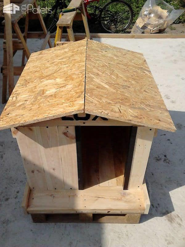 Lux's Getaway-resort Pallet Dog House Animal Pallet Houses & Pallet Supplies