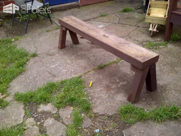 Solid Little Pallet Bench Pallet Benches, Pallet Chairs & Stools