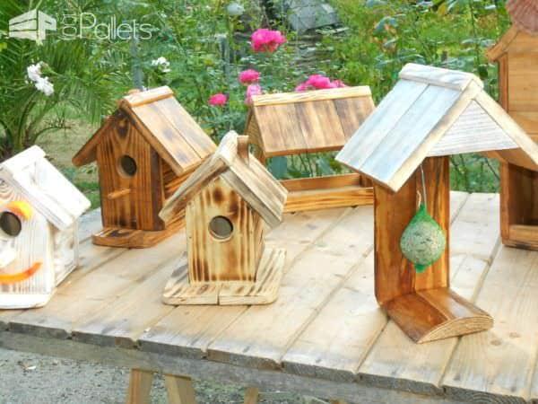 Adorable Pallet Birdhouses Plus Birdfeeders Animal Pallet Houses & Pallet Supplies