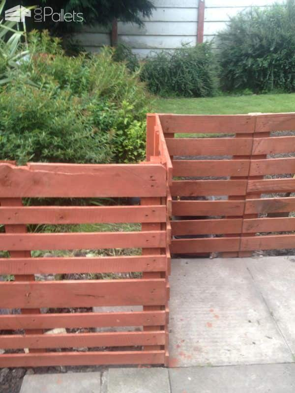 Easy Pallet Fence Patio Surround Other Pallet Projects Pallet Fences Pallet Projects