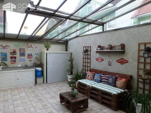 Easy Solarium Pallet Lounge Set Lounges & Garden Sets Pallet Sofas & Couches