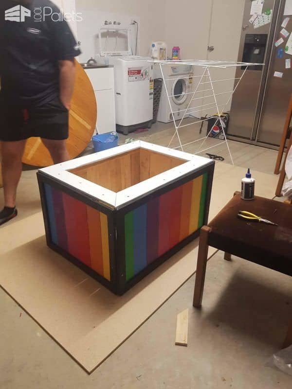 Fantastic First Birthday Pallet Toybox Fun Pallet Crafts for Kids Pallet Boxes & Chests