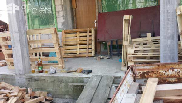 Fast Comfortable Pallet Garden Lounger Set Lounges & Garden Sets