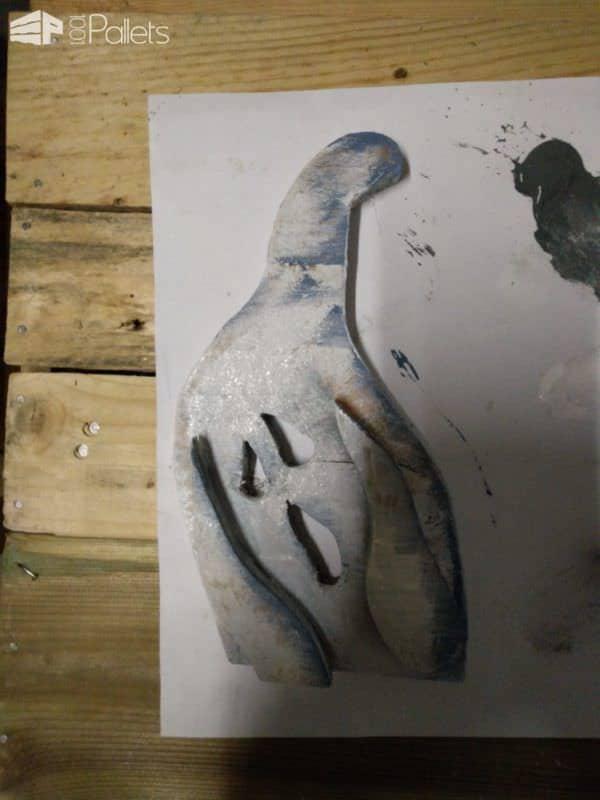 Hear, Speak, See No Evil Pallet Ghosts Pallet Home Accessories