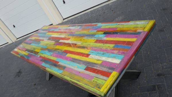 Heavy-duty Pallet Kaleidoscope Dining Table Other Pallet Projects Pallet Desks & Pallet Tables