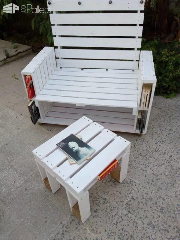 Pallet Book-bench and Petite Coffee Table Pallet Benches, Pallet Chairs & Stools Pallet Desks & Pallet Tables