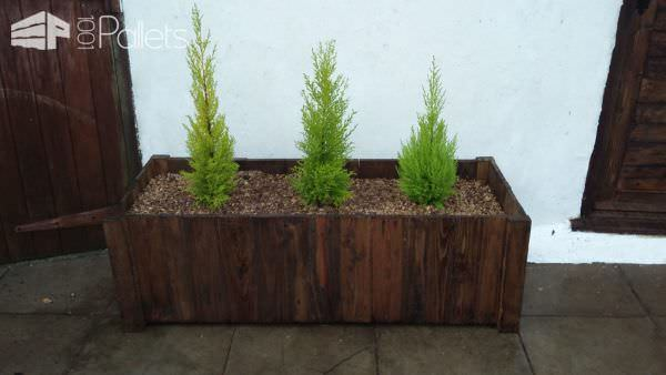 Pallet Door Set Surrounding Matching Planter Box Pallet Planters & Compost Bins Pallet Walls & Pallet Doors