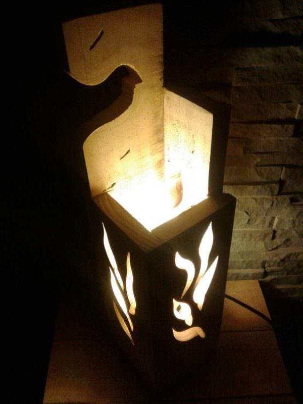 Stylish Jigsaw Pallet Wood Lamp Pallet Lamps & Lights