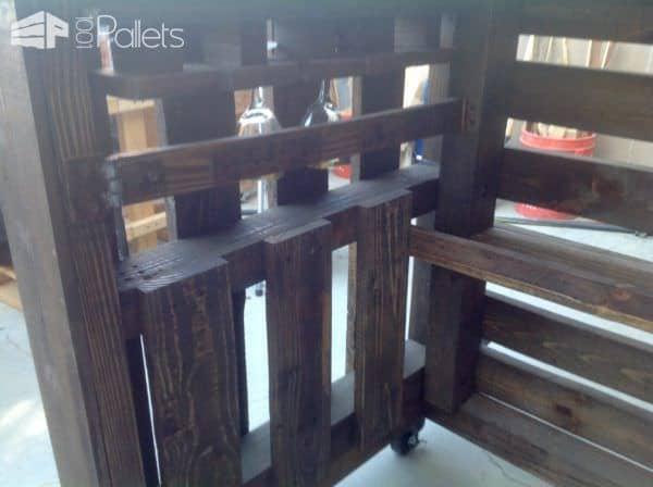 Custom Metal-topped Rustic Pallet Bar Pallet Bars