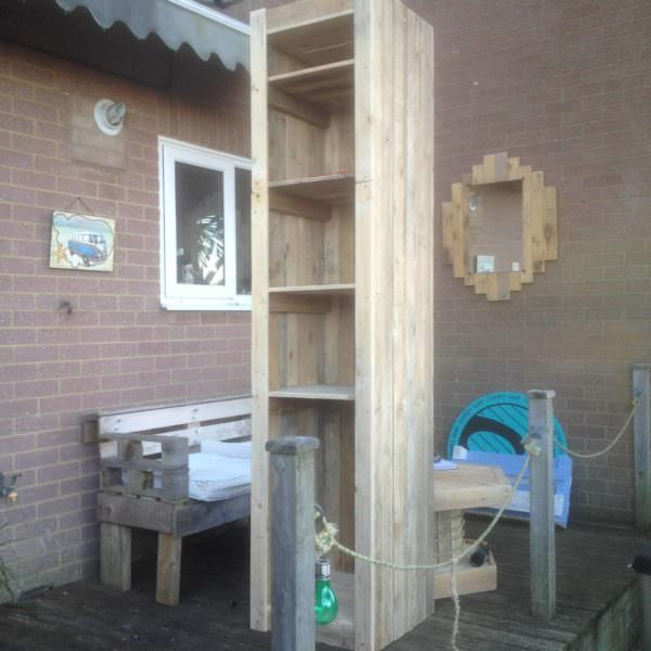 Have Tall Ceilings – Build Tall Pallet Shelves Pallet Shelves & Pallet Coat Hangers