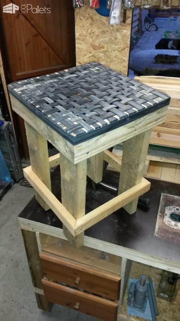 Innovative Inner Tube Pallet Lounge Set Pallet Desks & Pallet Tables