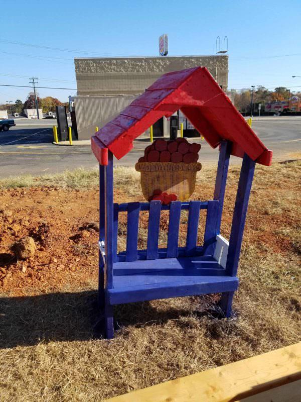 Precious Little Apple Barn Kid's Pallet Bench Pallet Benches, Pallet Chairs & Stools Pallet Sheds, Cabins, Huts & Playhouses