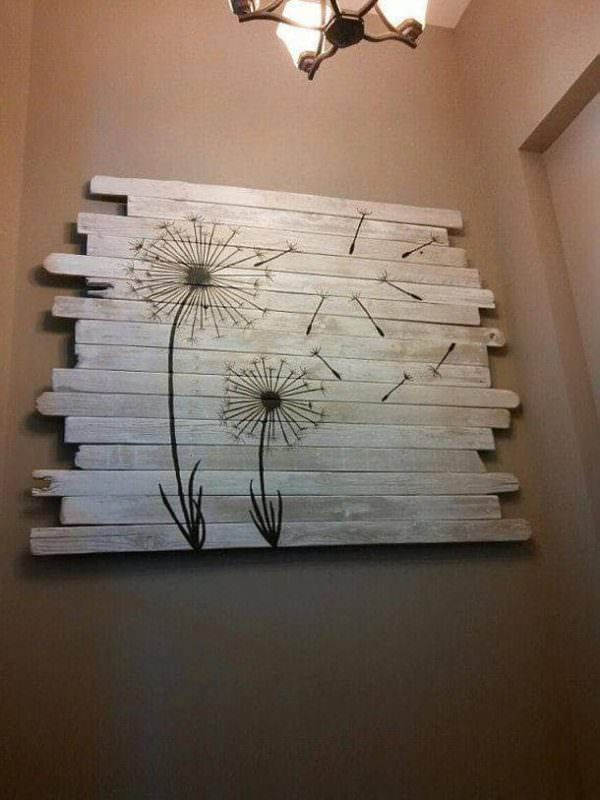 Quirky Pallet Art Helped Sell A Home! Pallet Wall Decor & Pallet Painting