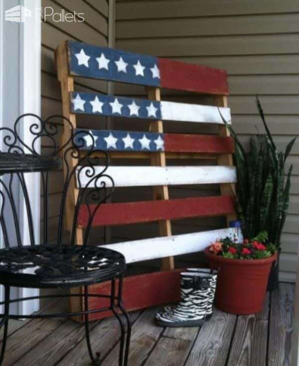 Show Your Pride With Themed Painted Pallets Pallet Home Décor Ideas