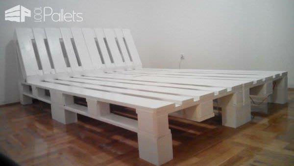 Underlit Pallet Double Bed Pallet Beds, Pallet Headboards & Frames