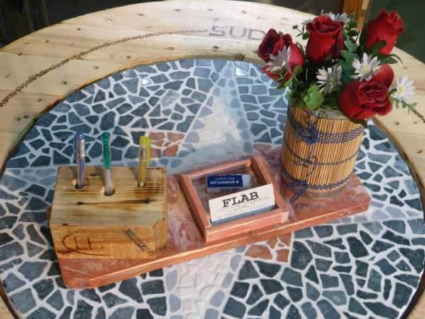 Upcycled Pallet Office Supplies Caddy Pallet Home Accessories