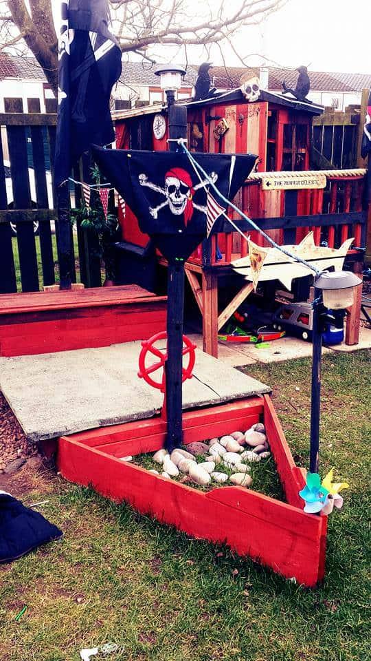 Ahoy Matey Pallet Pirate Ship Sand Pit Fun Pallet Crafts for Kids Pallets in the Garden