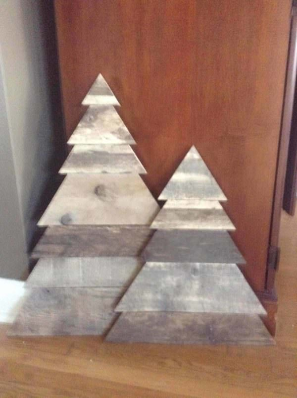 Layered-triangle Pallet Christmas Tree Pair Pallet Home Accessories