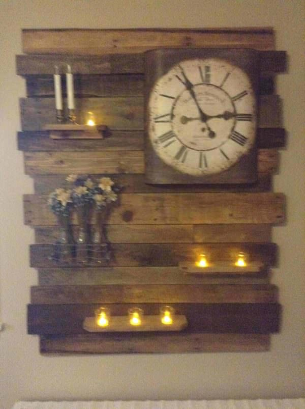 Lovely Pallet Wood Accent Wall Decor Panel Pallet Home Accessories