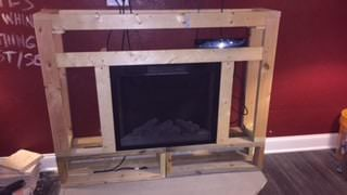 Pallet Living Room Wall / Fireplace Surround Pallet Wall Decor & Pallet Painting Pallet Walls & Pallet Doors