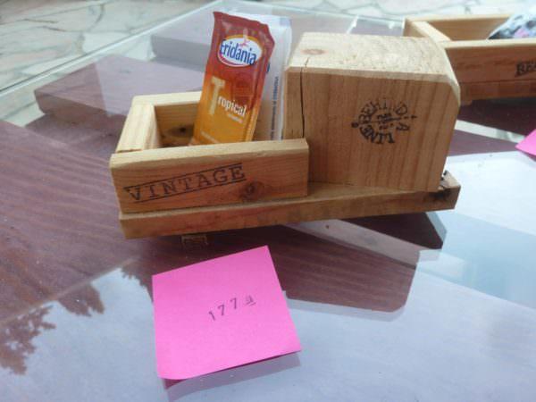 Pallet Wood Sugar Packet Holders / Porta Bustine Zucchero Pallet Home Accessories