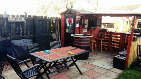 Propoganda 2016 Pallet Bar Extension Pallet Bars Pallet Sheds, Cabins, Huts & Playhouses